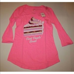 Justice cake pink blouse